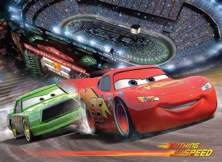 Disney Cars racing circle wall mural